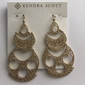 Kendra Scott vintage gold earrings